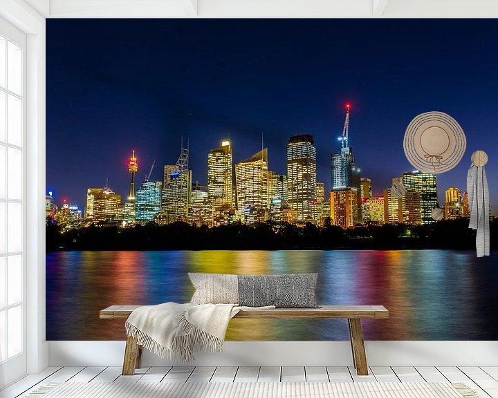 Beispiel fototapete: Skyline von Sydney (Sydney, Australien) von Michel van Rossum