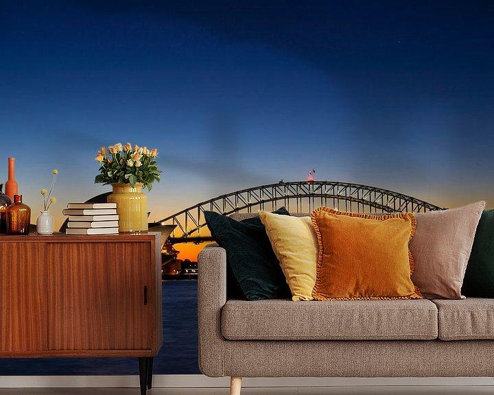 Sfeerimpressie behang: Opera House (Sydney, Australia) van Michel van Rossum