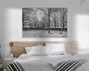 Leidseplein in Amsterdam (zwart wit) van Don Fonzarelli