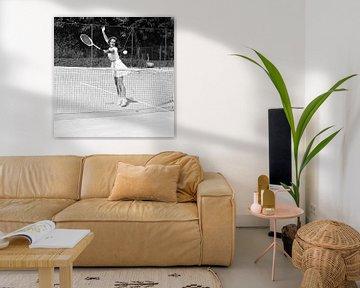 Switzerland Tennis Pierrette Dubois, 1944 (b/w photo) van Bridgeman Images