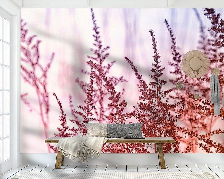 Sfeerimpressie behang: Sneeuwlandschap met graspluimen van Tot Kijk Fotografie: natuur aan de muur