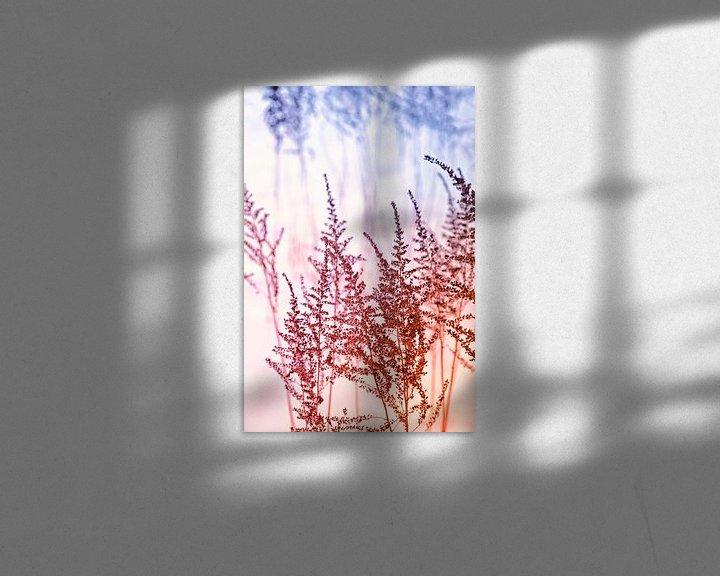 Sfeerimpressie: Sneeuwlandschap met graspluimen van Tot Kijk Fotografie: natuur aan de muur