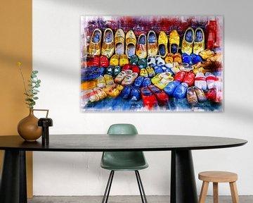 Collection de chaussures en bois (art numérique) sur Art by Jeronimo