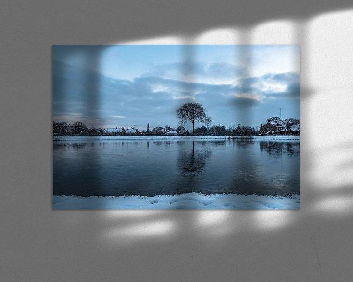 Sfeerimpressie: Winter gezien vanuit Natuurgebied Moerenburg van Freddie de Roeck