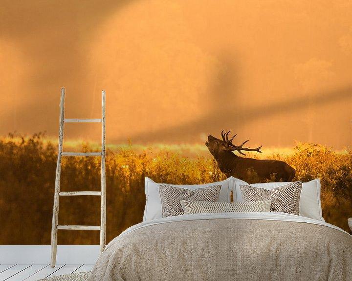 Sfeerimpressie behang: Burlend ochtendgloren van jowan iven
