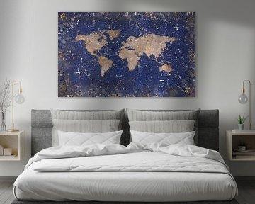 Wereldkaart 2 van TRICHOPOULOS