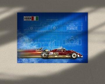 Ferrari 126c2 Blauwdruk van Theodor Decker