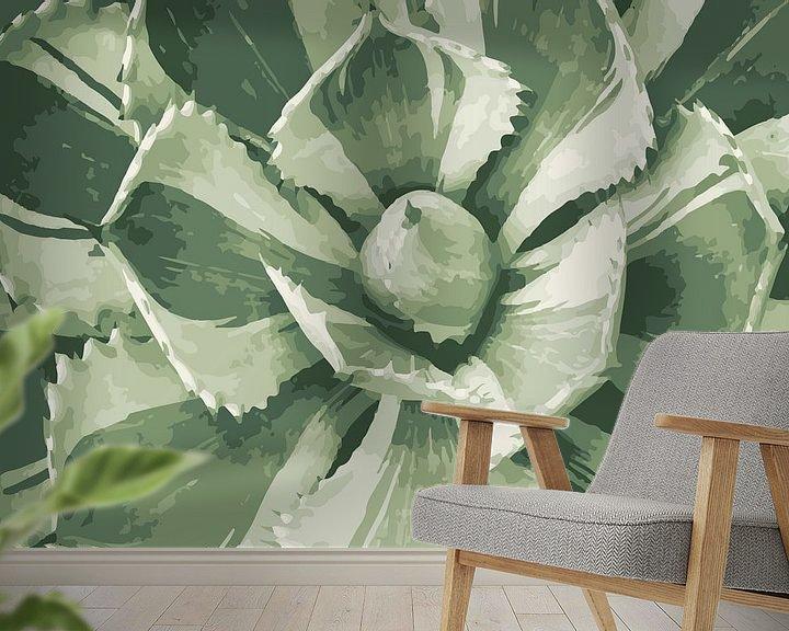 Beispiel fototapete: Sukkulente in hellen Grüntönen von Studio Maria