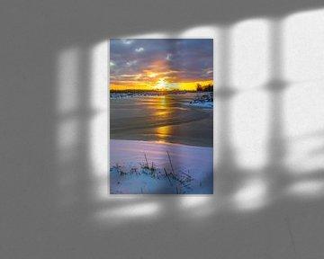 Winterse zonsondergang van Esmeralda Fotografie