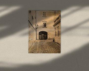 Steeg in Praag sepia van Katrin May