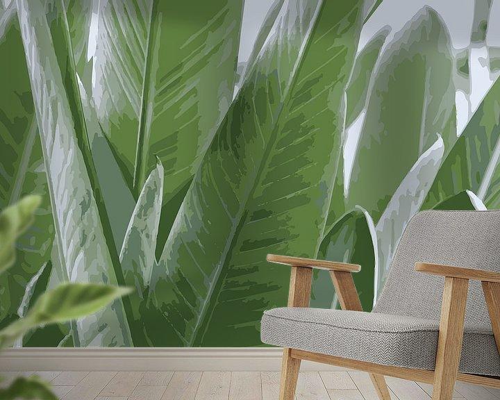 Beispiel fototapete: Papageienpflanze von Studio Maria
