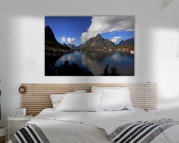 Zicht op de Lofoten eilandengroep in Noorwegen van Coos Photography
