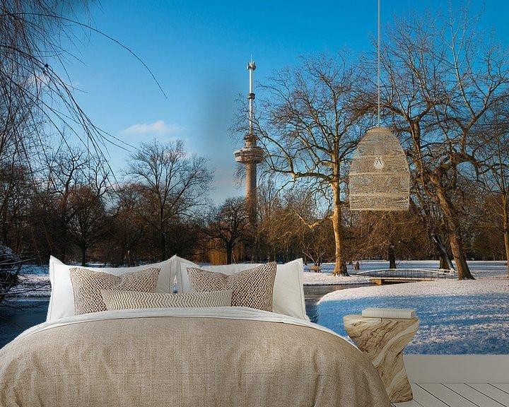 Sfeerimpressie behang: De Euromast - winter 5 van Nuance Beeld