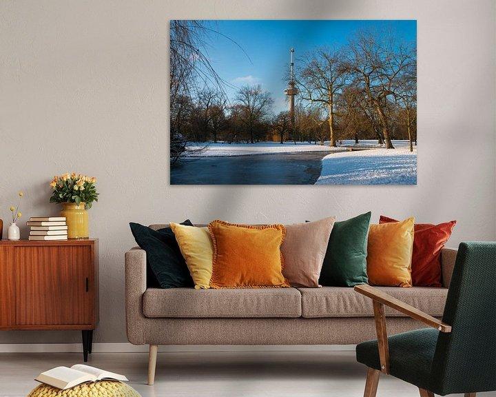 Sfeerimpressie: De Euromast - winter 5 van Nuance Beeld