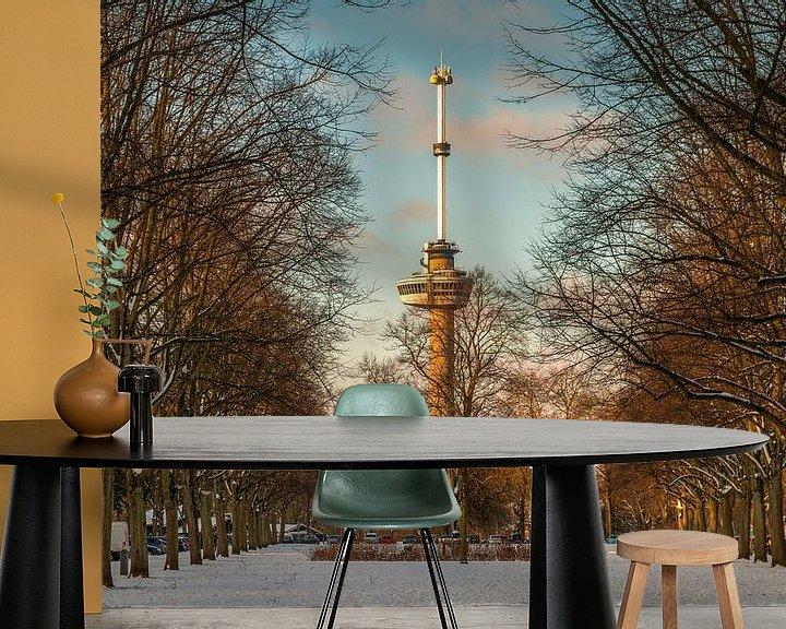 Sfeerimpressie behang: De Euromast - winter 6 van Nuance Beeld