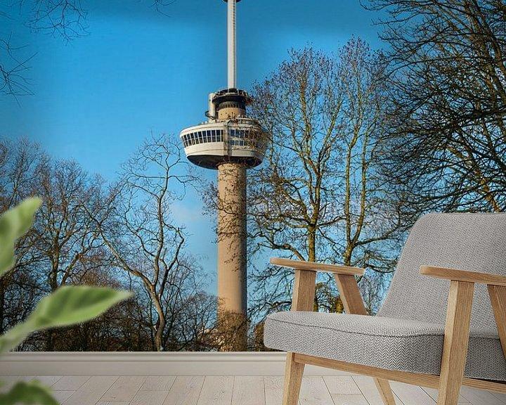 Sfeerimpressie behang: De Euromast - winter 7 van Nuance Beeld
