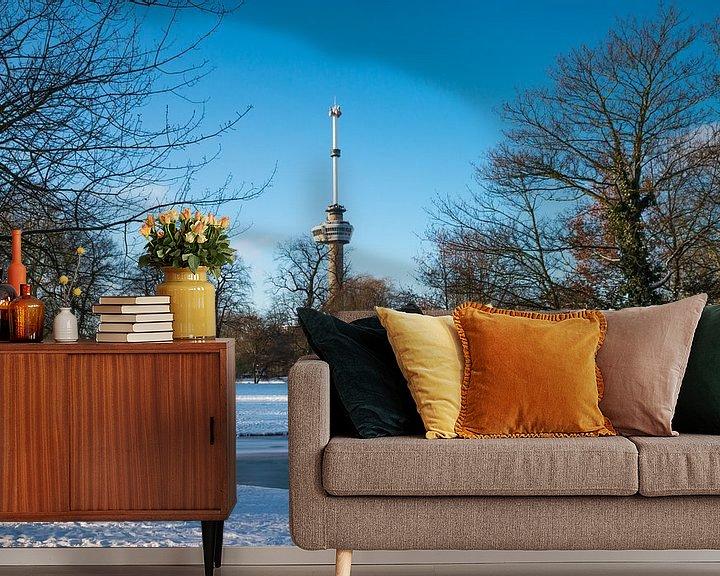 Sfeerimpressie behang: De Euromast - winter 9 van Nuance Beeld