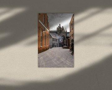 Den Bosch Sint Jan in sneeuw van Emrah Senel