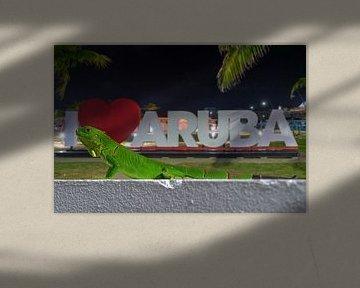 I love Aruba letters van Humphry Jacobs