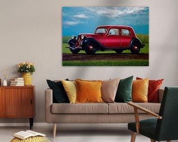 Citroën Traction Avant Schilderij van Paul Meijering