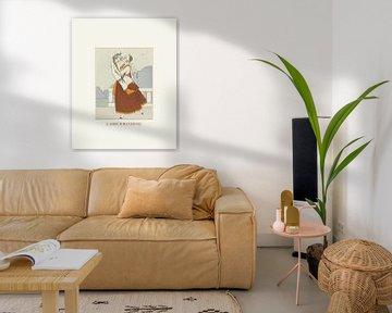 L'amour maternel - Historische mode, Art Deco Prent van NOONY
