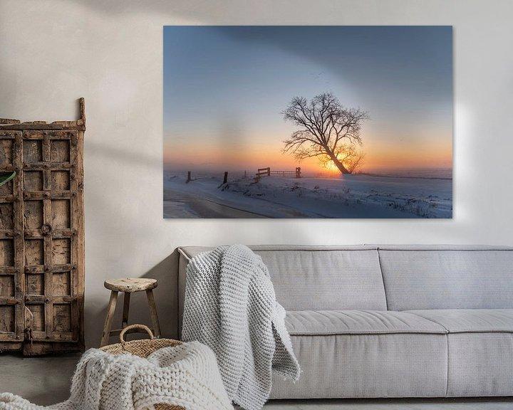 Sfeerimpressie: Zonsopgang in Mastenbroek van Erik Veldkamp