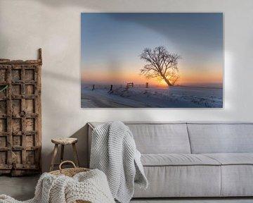 Sonnenaufgang in Mastenbroek von Erik Veldkamp