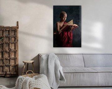 Ein junger Mönch von Anges van der Logt