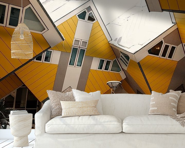 Beispiel fototapete: Würfelhäuser im Schnee von Paul Poot