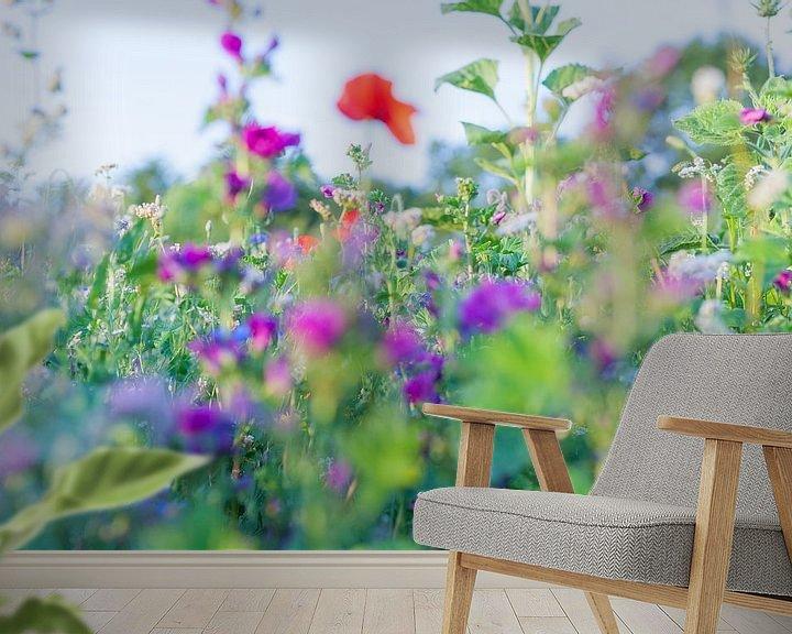 Beispiel fototapete: Wilde Sommerblumen 07 von FotoDennis.com