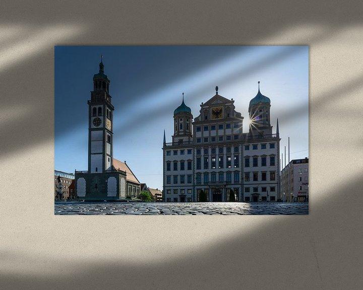 Sfeerimpressie: Stadhuis en Perlachturm in Augsburg van Melanie Jahn