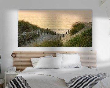 Avond aan het strand van Dirk van Egmond