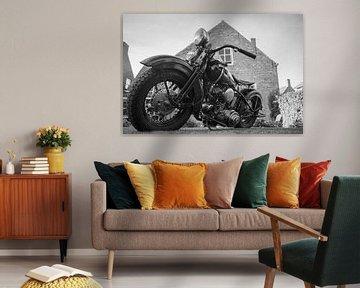 Harley Davidson en noir et blanc