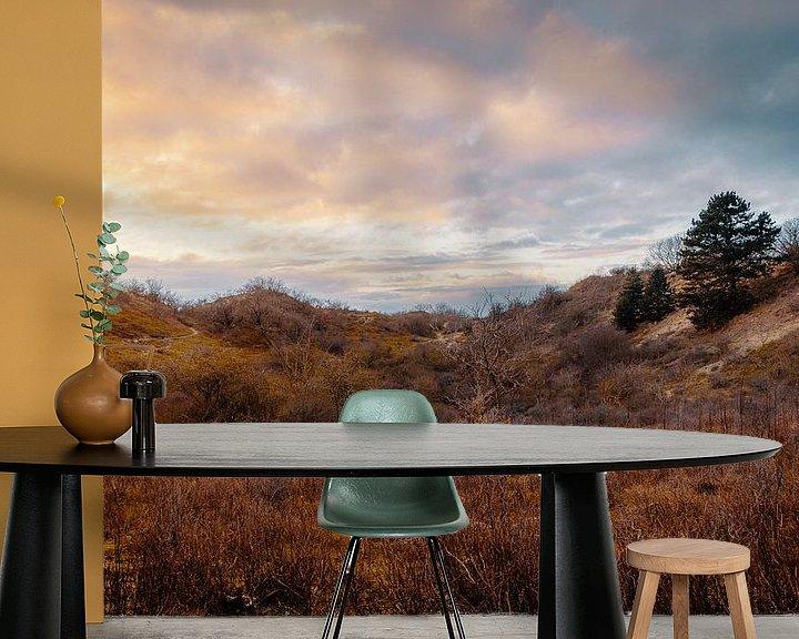 Beispiel fototapete: Meijendel-Sonnenuntergang von Paul Poot