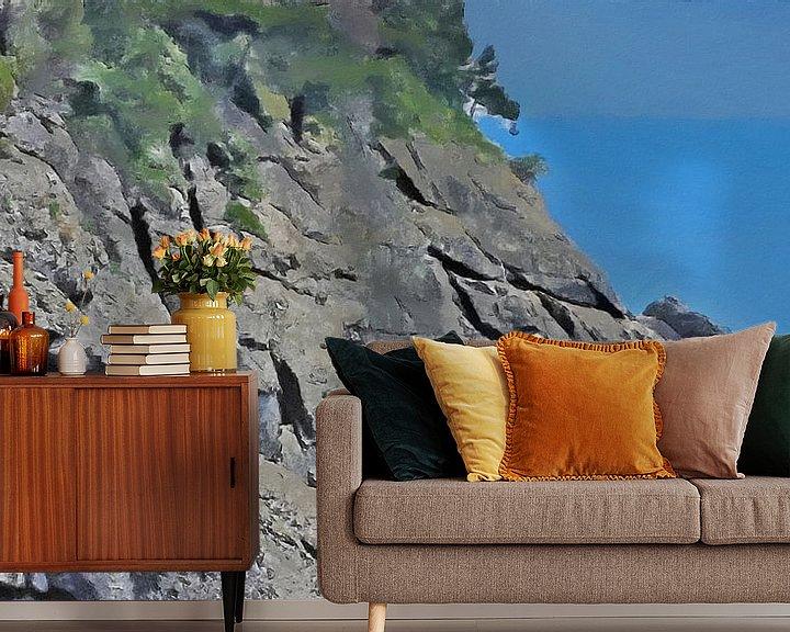 Sfeerimpressie behang: Portofino Kliffen van Schildersatelier van der Ven
