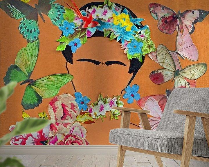 Beispiel fototapete: Frida Kahlo von Ineke de Rijk