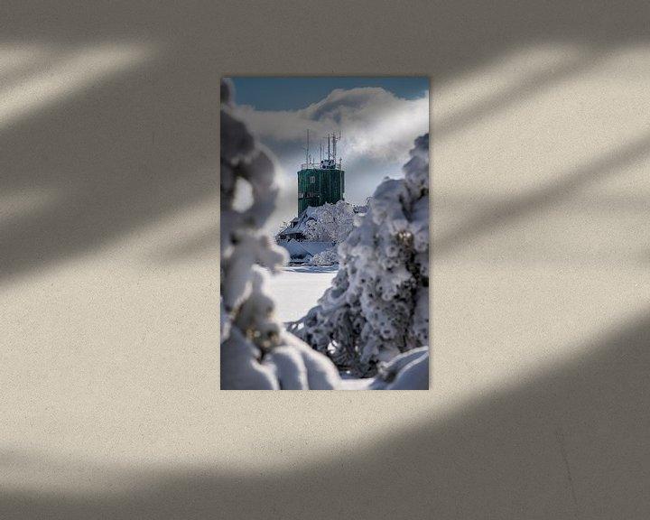 Beispiel: Verschneiter Blick auf den Astenturm von Deimel Fotografie