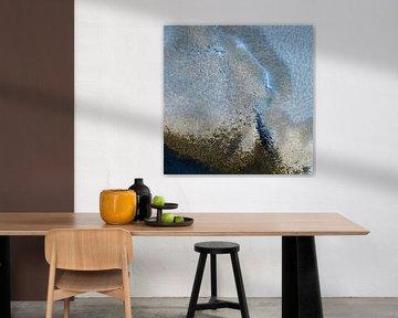 Abstract Nederland van Boven in aardse tinten [vierkant] van Affect Fotografie