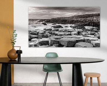 Der Giant's Causeway in Schwarz und Weiß