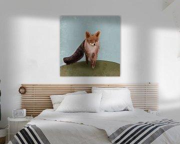 Aquarell Fuchs von Femmie Van der knokke