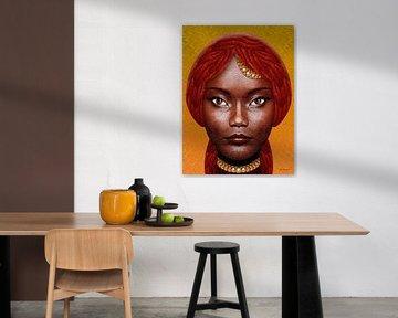 Schöne schwarze Dame von Ton van Hummel (Alias HUVANTO)