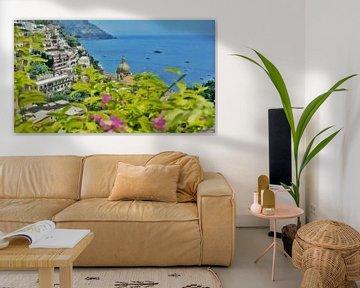 Amalfiküste - Meerblick bei Positano - Gemälde von Schildersatelier van der Ven