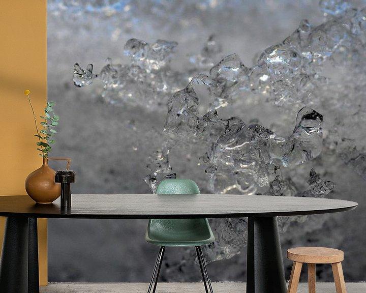 Sfeerimpressie behang: Glinsterend IJs van FotoGraaG Hanneke