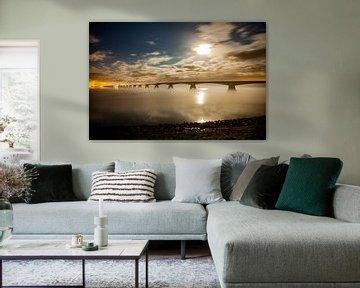 Mysteriöse Zeeland-Brücke von Hartsema fotografie