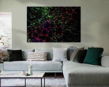 Abstractart : Das rote Netz von Michael Nägele