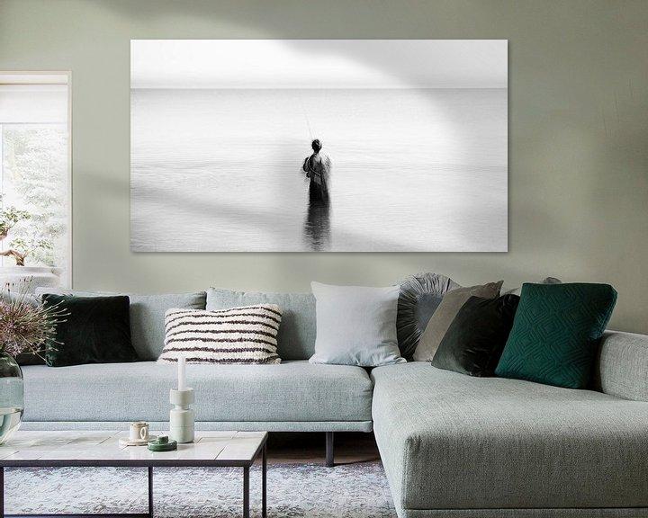 Beispiel: Kunstvoller Angler im Meer von Heiko Westphalen
