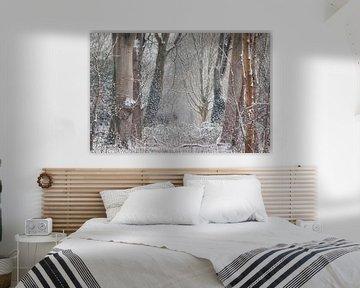 Winterlandschap van Mireille Breen