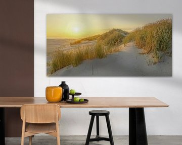Lever de soleil sur la plage de Terschelling sur Dirk van Egmond
