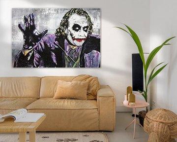 """Der Joker """"Comic"""" von Kathleen Artist Fine Art"""