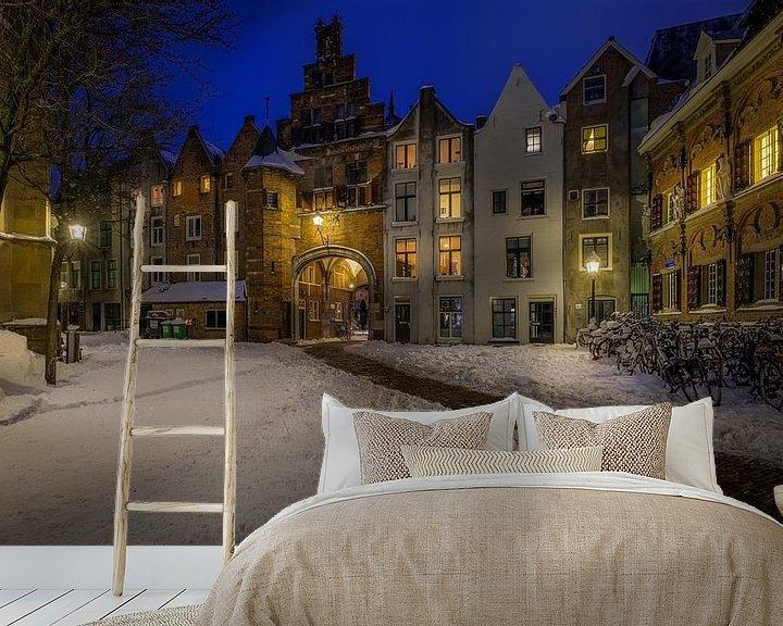 Beispiel fototapete: Sint Stevenskerkhof, Nijmegen Winterausgabe von Mario Visser